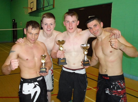 Pitbull MMA Fighters After Big Win 2012